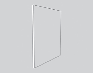 illustration of galvanized sheet on top of prepared Masonite board