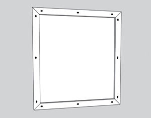 illustration of attaching frame to chalkboard