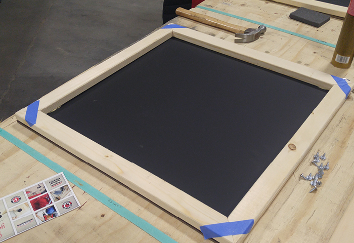 Build A Magnetic Chalkboard and Get Ready for Back to School