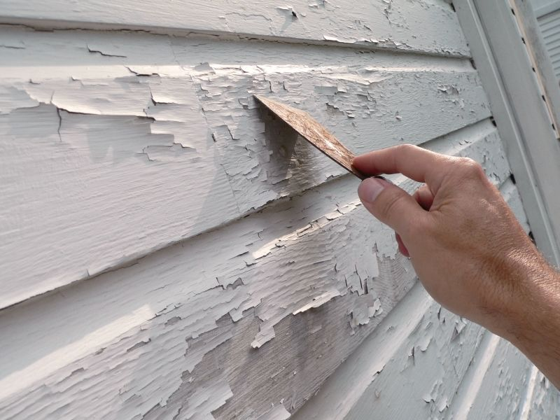 scraping flaking exterior paint